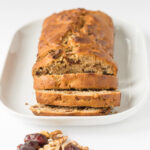 Date and walnut loaf is a really easy, low fat and delicious traditional Scottish teatime cake. It's a perfect bake for holidays and quick to whip up when you've guests coming round!