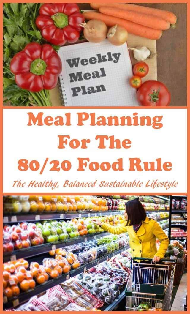 Meal Planning For The 80/20 Food Rule. If making healthy changes to your diet is one of your goals and you're new to meal planning, then this Beginner's Guide To EASY Meal Planning is for you! #neilshealthymeals #mealplanning #80/20 #80/20foodrule #healthyliving #sustainableliving #dietfree