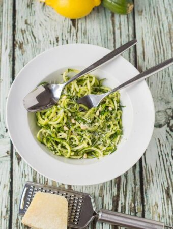 Spiralized Kale Pesto Pasta
