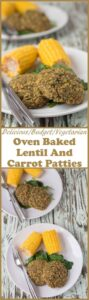 This oven baked lentil and carrot patties recipe is an excellent budget recipe. Delicious and easy to make these vegetarian lentil and carrot patties are sure to fill any hungry tums plus they freeze well too!