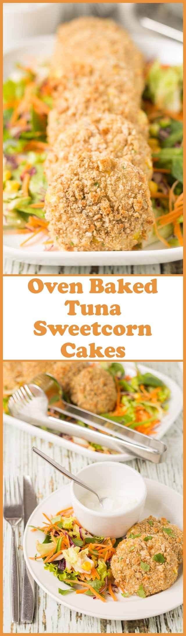 These oven baked tuna sweetcorn cakes are a greatway of using up leftover potatoes to create an amazingly simple and filling quick healthy meal. Being oven baked instead of fried these delicious healthy cakes are lower in calories and fat too!