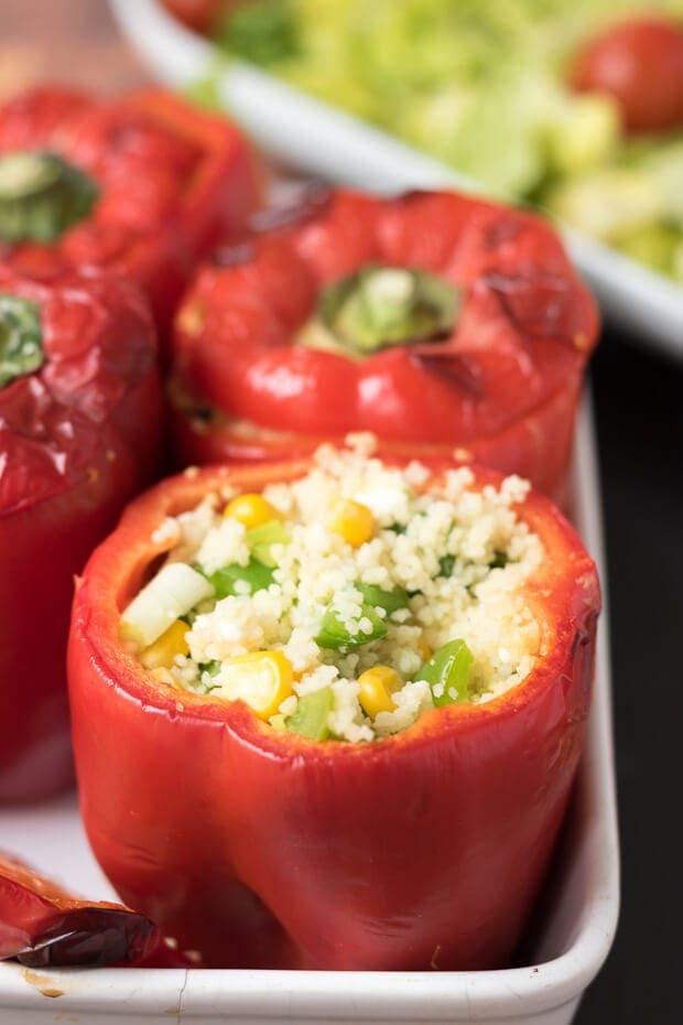 Vegetarian Couscous Stuffed Peppers