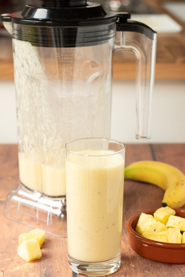 4 Ingredient Tropical Banana Smoothie Neils Healthy Meals