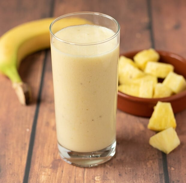 4-Ingredient Tropical Banana Smoothie