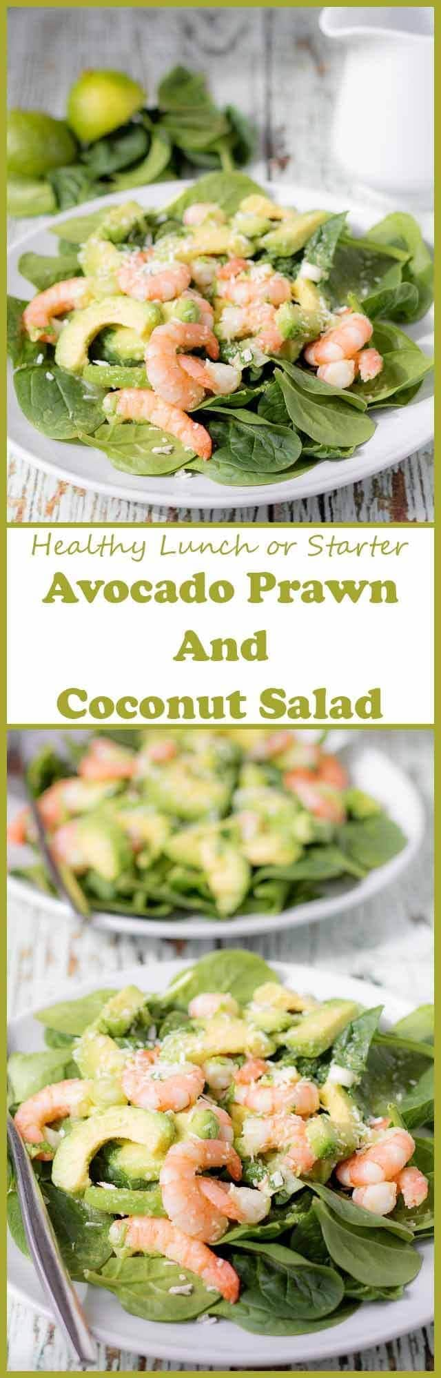 Avocado prawn and coconut salad is a delicious sweet tasting salad that's perfect as a healthy lunch or starter. It's packed full of flavour, made with minimal ingredients and has an amazingly tasty sweet honey coconut dressing to go with it. This perfect salad recipe proves that all salads aren't boring!