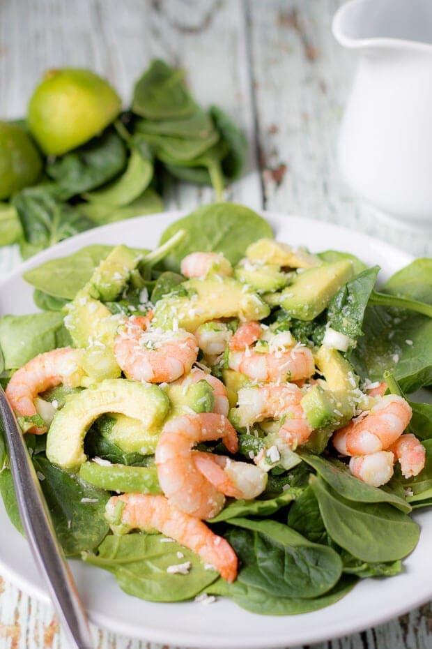 Avocado Prawn And Coconut Salad