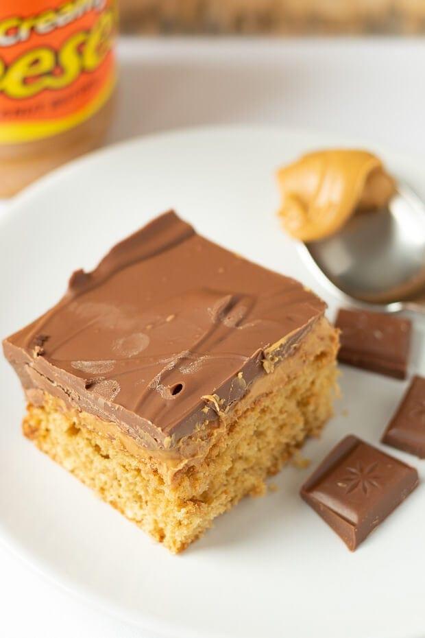 Chocolate Peanut Butter Traybake