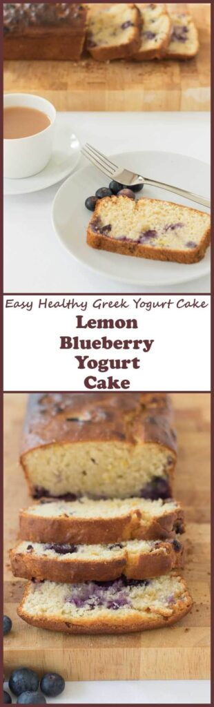Lemon blueberry yogurt cake is areally easy healthy Greek yogurt cake recipe. It's delicious, moist and fluffy. This loaf cake is just packed full of blueberry and lemony goodness and is perfect for an afternoon treat or sharing with friends!