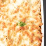 Creamy chicken, leek and mushroom pasta bake is a delicious and simple quick healthy pasta bake that all the family will enjoy. Taking less than an hour to serve you'll love the delicious smells that come from your kitchen whilst this is cooking!