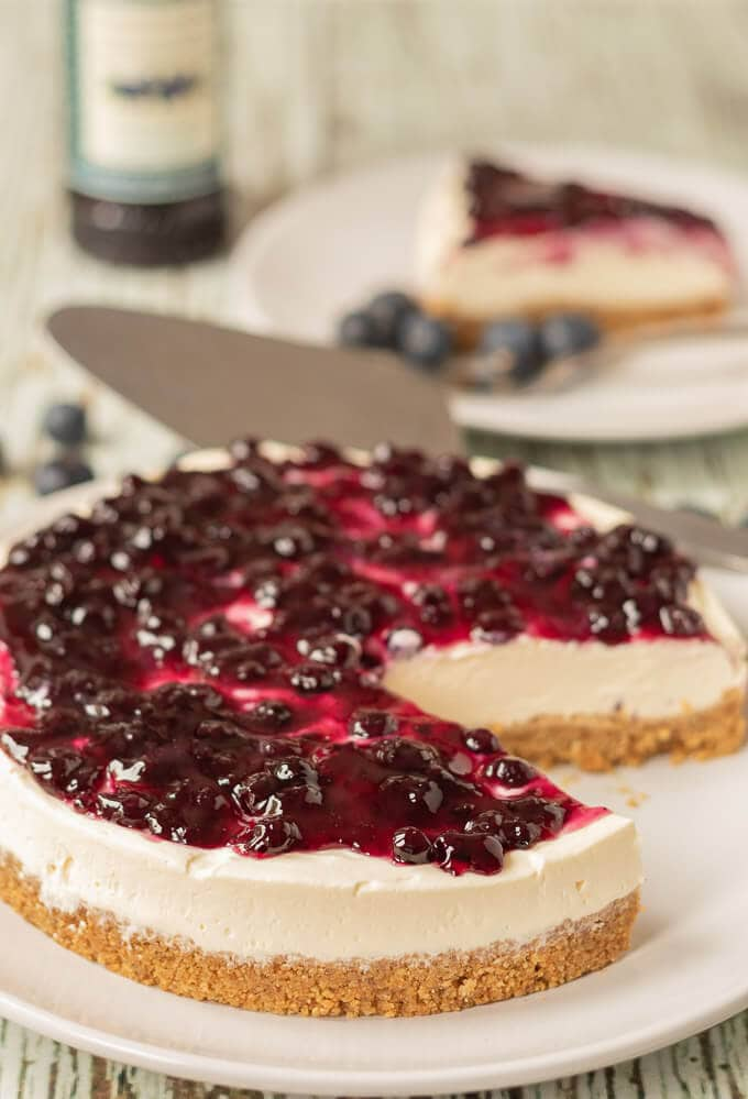 The Easiest Ever No Bake Blueberry Cheesecake