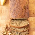 Healthy banana and walnut loaf is the perfect accompaniment to your coffee/tea break. It's delicious and easy to make with a superb moist texture. Filled with crunchy walnuts it's also a great budget cake for sharing with friends!