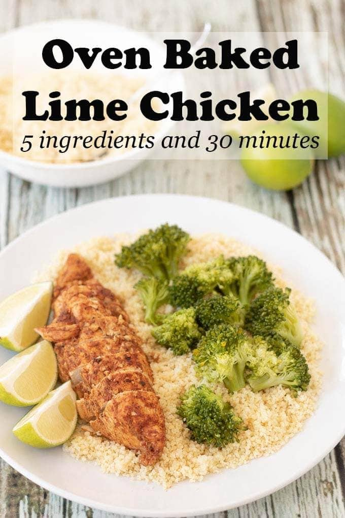 Oven baked lime chicken is a super easy 5 ingredient foil baked chicken recipe. This 30 minute delicious baked moist chicken recipe is a perfect weeknight quick healthy meal! If you're looking for a simple oven baked chicken recipe look no further! #neilshealthymeals #ovenbaked #ovenbakedchicken #foilbaked #limechicken