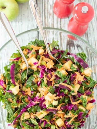 Creamy Kale Coleslaw with Apple