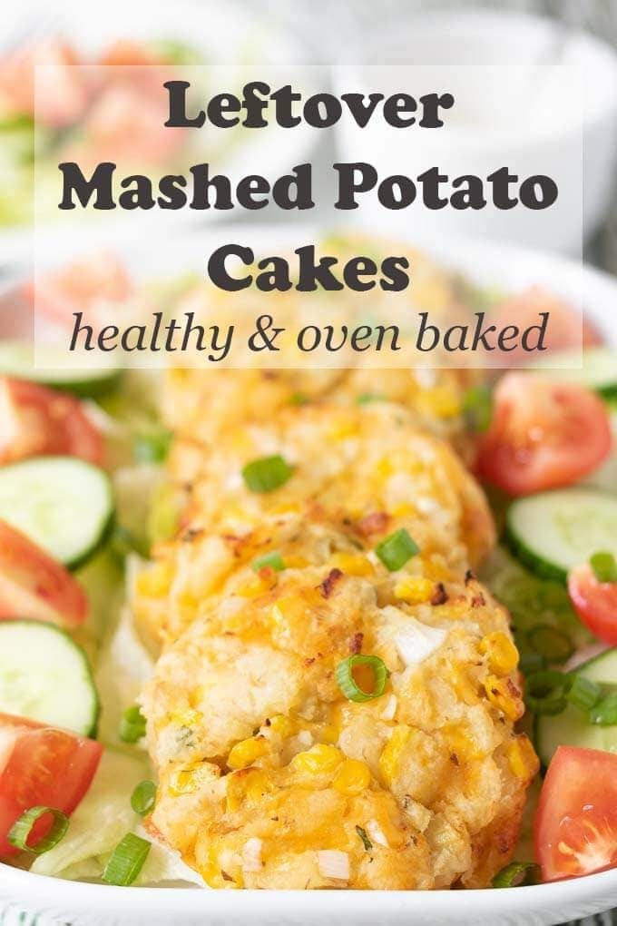 Leftover mashed potato cakes is a great recipe when you're wondering how to use up those leftover mashed potatoes! Create delicious and healthy oven baked mashed potato cakes for dinner with minimal ingredients! #neilshealthymeals #leftovermashedpotato #mashedpotatocakes #mashedpotato