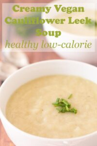 This delicious creamy vegan cauliflower leek soup is an easy to make comforting soup recipe. It's a light and healthy low-calorie, low-carb soup that's made in just under an hour with all natural ingredients. This skinny soup is only 163 calories per bowl too so is great as a slimming aid. #neilshealthymeals #recipe #cauliflower #leek #soup #vegan #healthy #skinny #lowcarb #lowcalorie #creamy