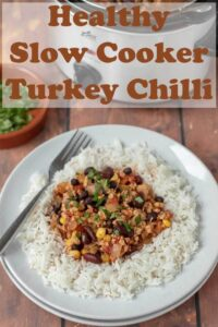 Healthy slow cooker turkey chilli is a delicious lightly spiced and easy version of the Mexican classic recipe. This tasty dish is one all the family will love! #neilshealthymeals #recipe #turkey #chilli #slowcooker #healthy #easy