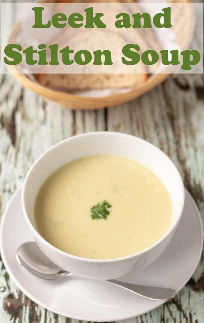 Leek and stilton soup is a creamy and delicious recipe. This winter warmer will soon have you glowing and would make a perfect festive starter but is great all year round too! #neilshealthymeals #recipe #leek #stilton #soup #vegetarian