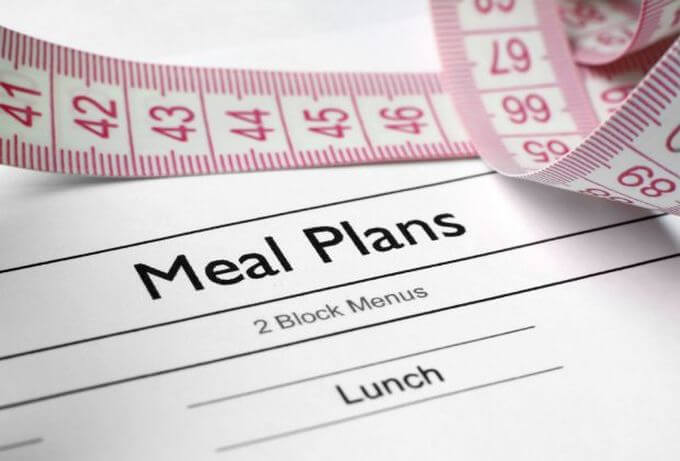 Blank piece of paper with Meal Plans as the title.